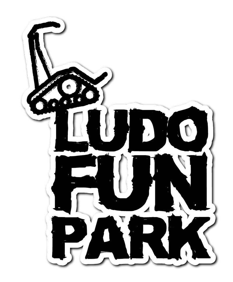 Logo Ludo Fun Park, parc de loisir avec véhicules électriques pour petits et grands