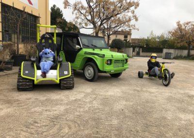 Véhicules électriques Ludo Fun Park : Ziesel, e-mehari, trotinette...
