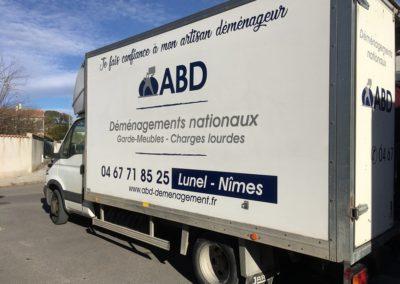 Un des camions de déménagement utilisé par ABD Déménagement (Lunel - Hérault)