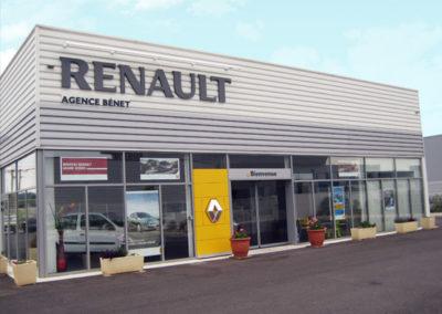 Vue extérieure du garage Bénet, Agent Renault et Dacia à Gallargues le Montueux : vente neuf, occasion, entretien, réparation