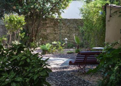Création d'un jardin privatif autour d'une villa