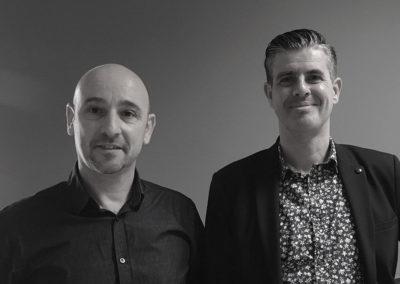 Les fondateurs d'Inovatek : Jacques Benaïm, Nicolas Gravet : spécialistes en informatique et alarme