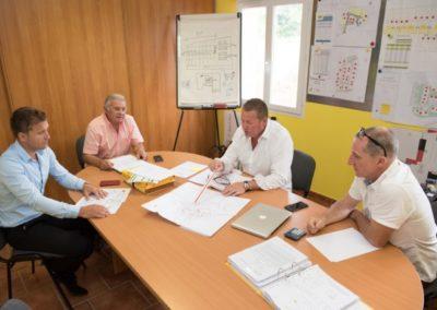 Réunion d'équipe pour projet d'aménagement foncier sur le gard