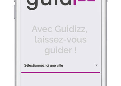 Guidizz, application iOs et Android réalisée par Index LD